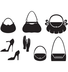 Handbag set vector