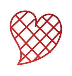 heart love square design romance passion vector image