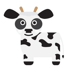 Isolated cute cow vector