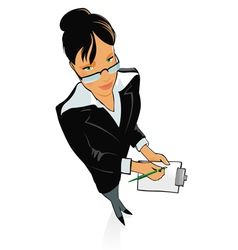 Lady working vector