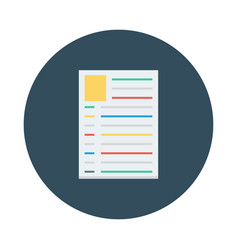 Resume profile document job cv vector