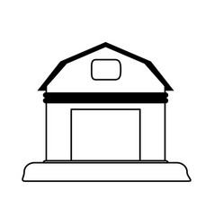 Rural barn icon image vector