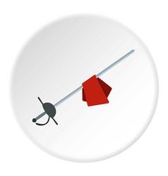 saber icon circle vector image vector image