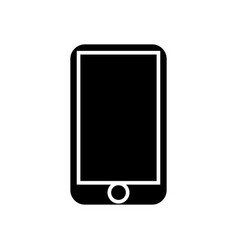 smartphone icon black sign vector image