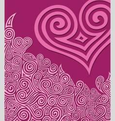 Swirly-heart vector