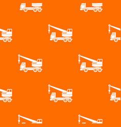 Truck crane pattern seamless vector