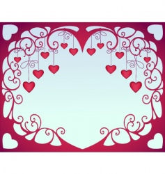 valentine hearts vector image vector image