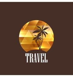 With diamond tropical island vector