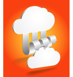 Abstract cloud scheme in perspective vector image
