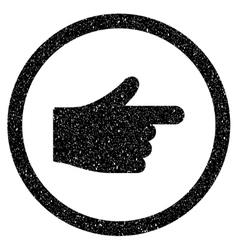 Index pointer grainy texture icon vector