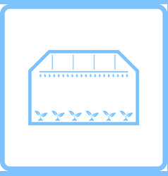 Greenhouse icon vector