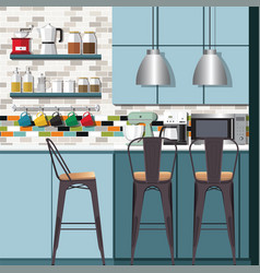 kitchen ideas amp design vector image