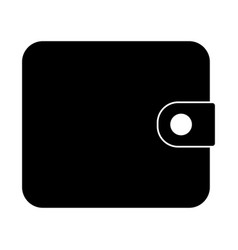 change purse the black color icon vector image
