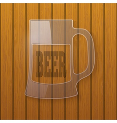 Glass plate in the form of a beer mug vector