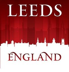 Leeds England city skyline silhouette vector image