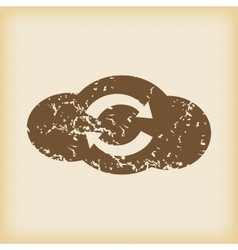 Grungy cloud exchange icon vector