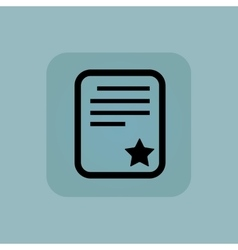 Pale blue best document icon vector