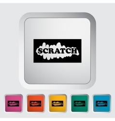 Scratch card vector