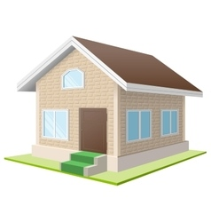Vacation home white cottage vector