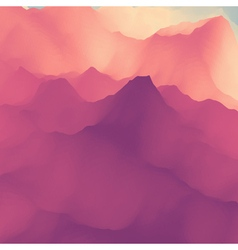 Mountain landscape mountainous terrain vector