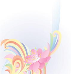 abstract pastel flower vector image vector image