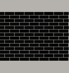 black brick wallpaper vector image vector image