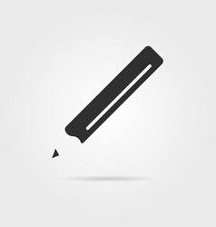 black pencil icon with shadow vector image