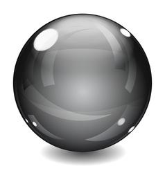 Black sphere vector