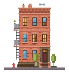 Brick townhouse vector image
