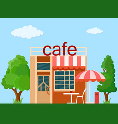 cafe front view vector image vector image