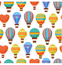 Cartoon air baloons seamless pattern background vector