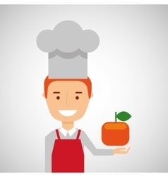 Cheerful chef fresh orange graphic vector
