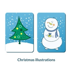 Chrismas labeles set vector image vector image