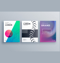 Clean minimal branding of brochures in three vector