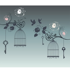 doves and cages vector image vector image
