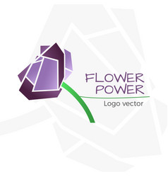 flower shop logo vector image