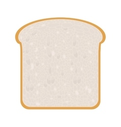 full color with slice of bread vector image vector image