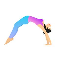 girl is practicing yoga vector image vector image