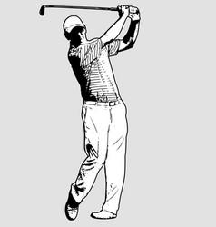 golf player sketch vector image