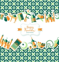 Happy ramadan icons set of arabian vector