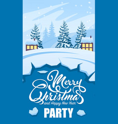 invitation card merry christmas party vector image vector image