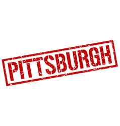 Pittsburgh red square stamp vector