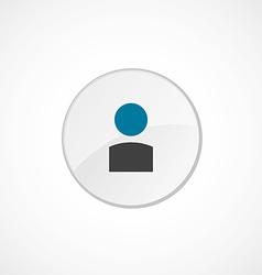 profile icon 2 colored vector image