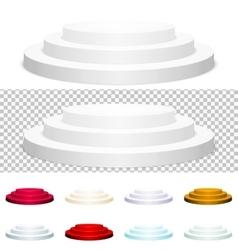 Set of Round podium Scene EPS 10 vector image vector image