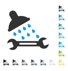 Shower plumbing icon vector