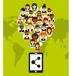 Social network vector