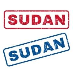 Sudan rubber stamps vector
