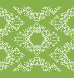 Swirl greenery seamless pattern background vector