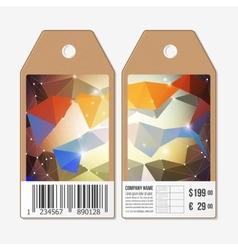 Tags design on both sides cardboard sale vector