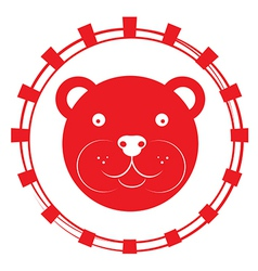 teddy bear stamp vector image vector image